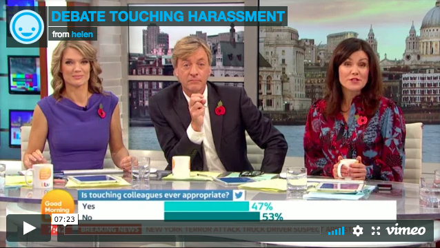 ITV: Physical contact in the workplace – have sexual harassment rules gone too far?