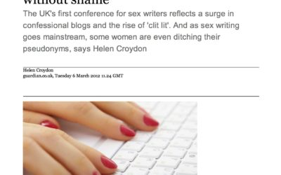 Guardian: Women are writing about sex without shame