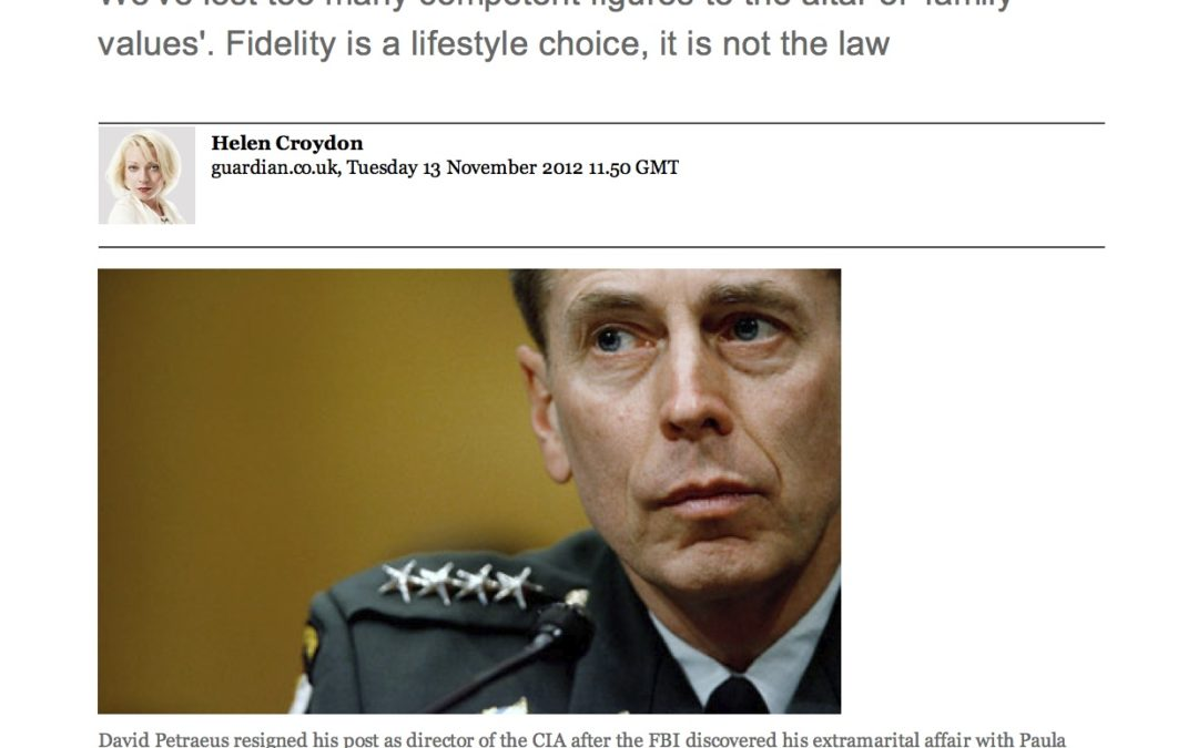 Petraeus's infidelity was his own affair