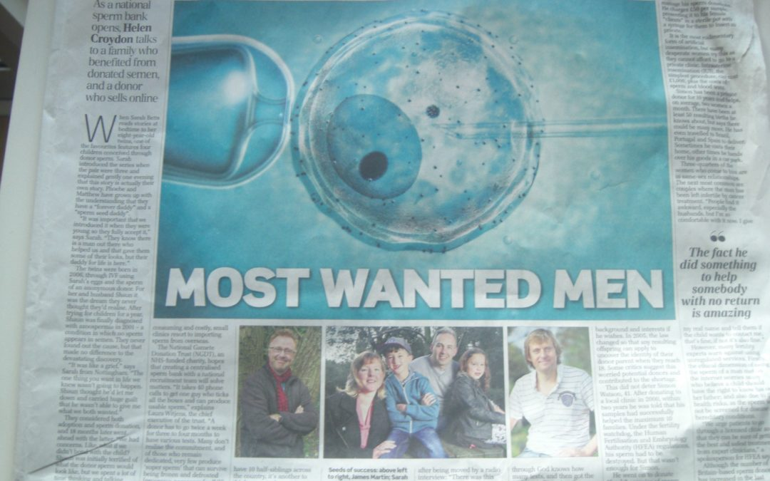 Telegraph: Most Wanted Men – Britain's sperm donor crisis