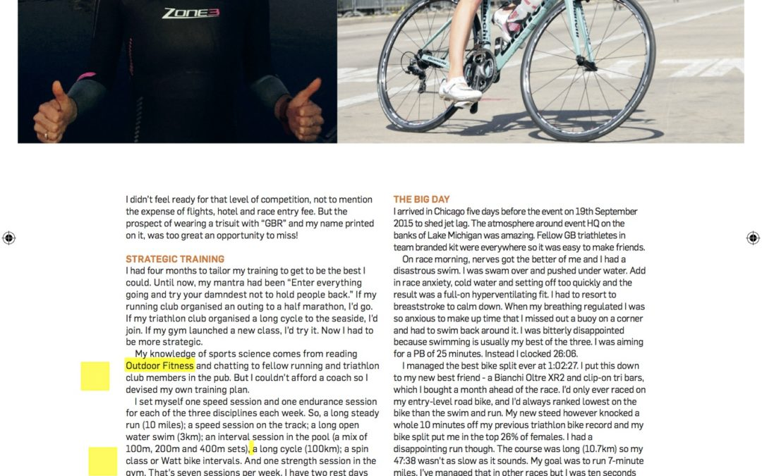 Outdoor Fitness Magazine: From parties to podiums; how I became a GB Triathlete