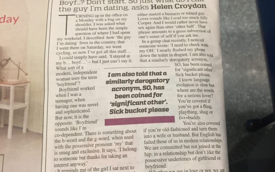 Metro: Why I hate the word 'boyfriend'